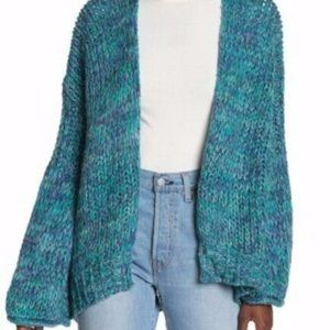 Free People Home Town Cardigan Arctic Combo Small